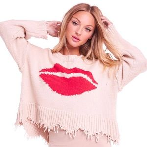 NWT Wildfox First Kiss Luna Sweater